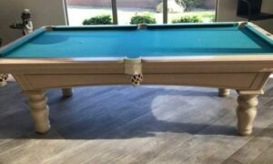 Olhausen Whitewash used pool table